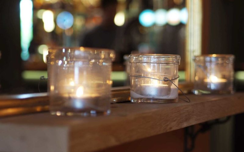 Candle lit dinners at The Foresters Arms