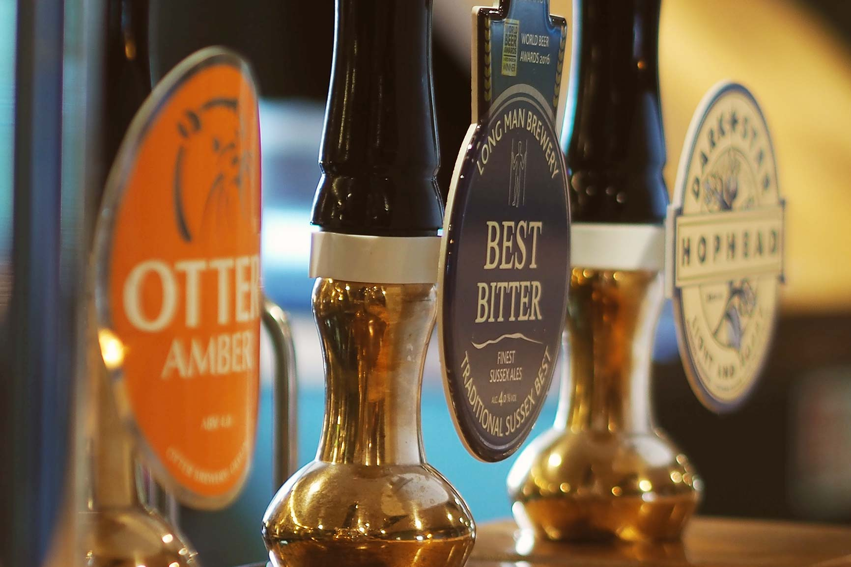 The best local ales at the Foresters Arms